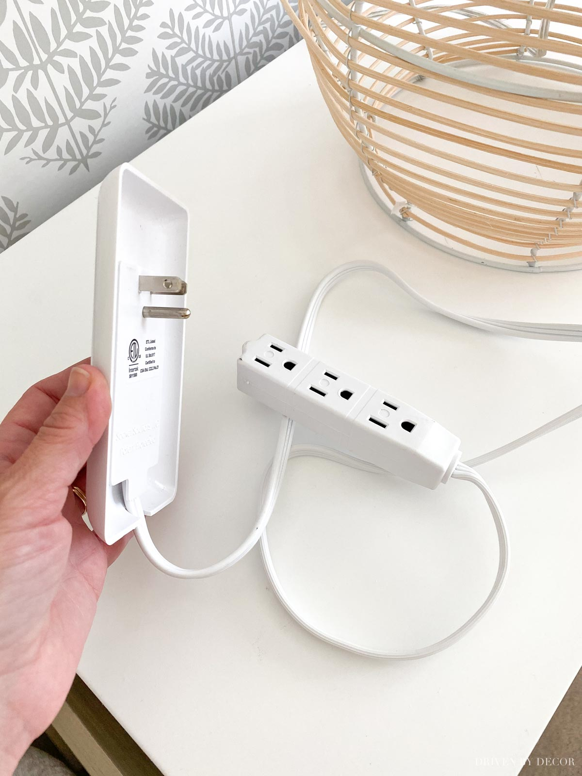 The perfect solution for when your outlet is behind a piece of furniture!