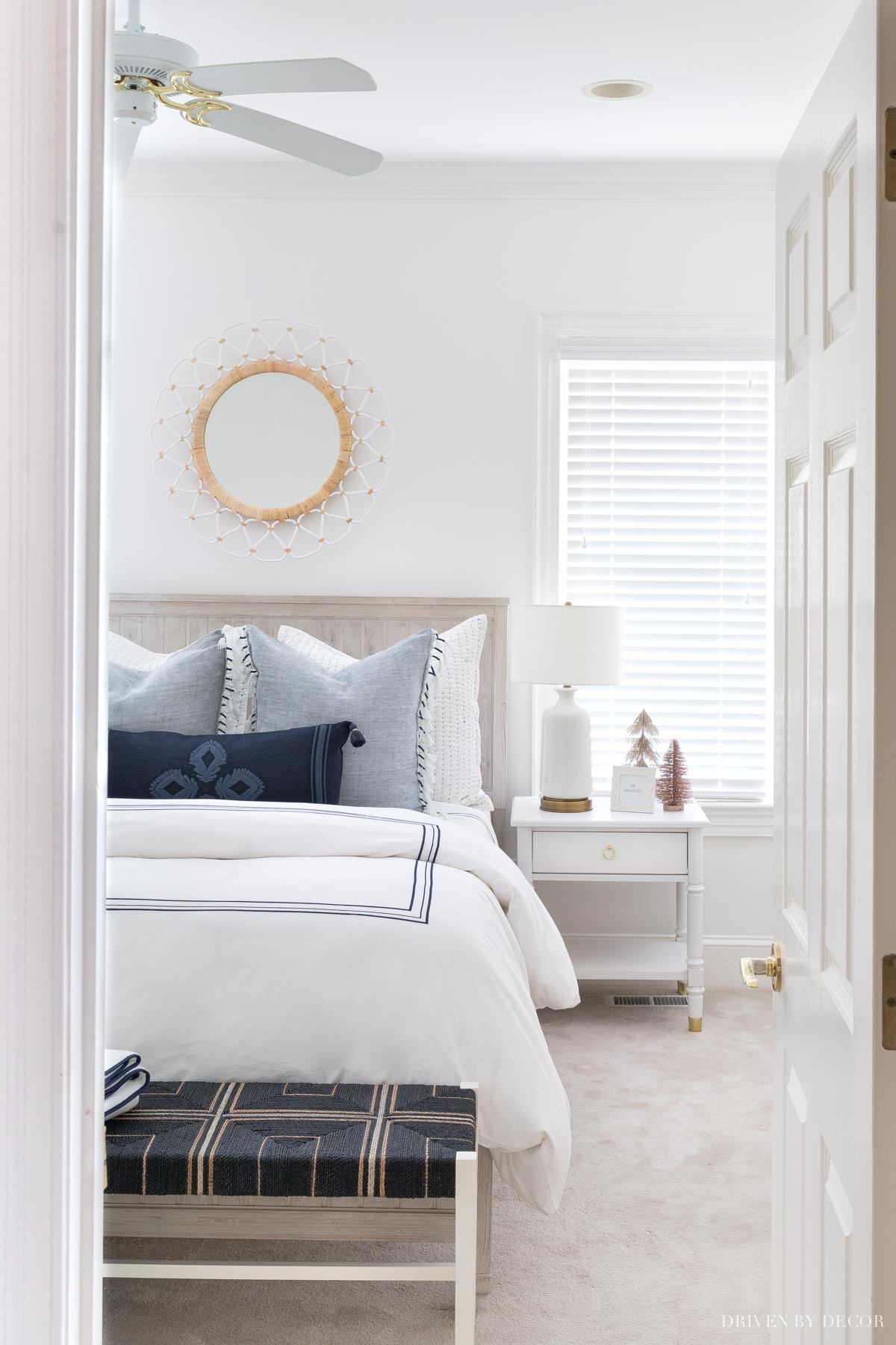 Tour our blue and white guest room and other rooms in our NC home!