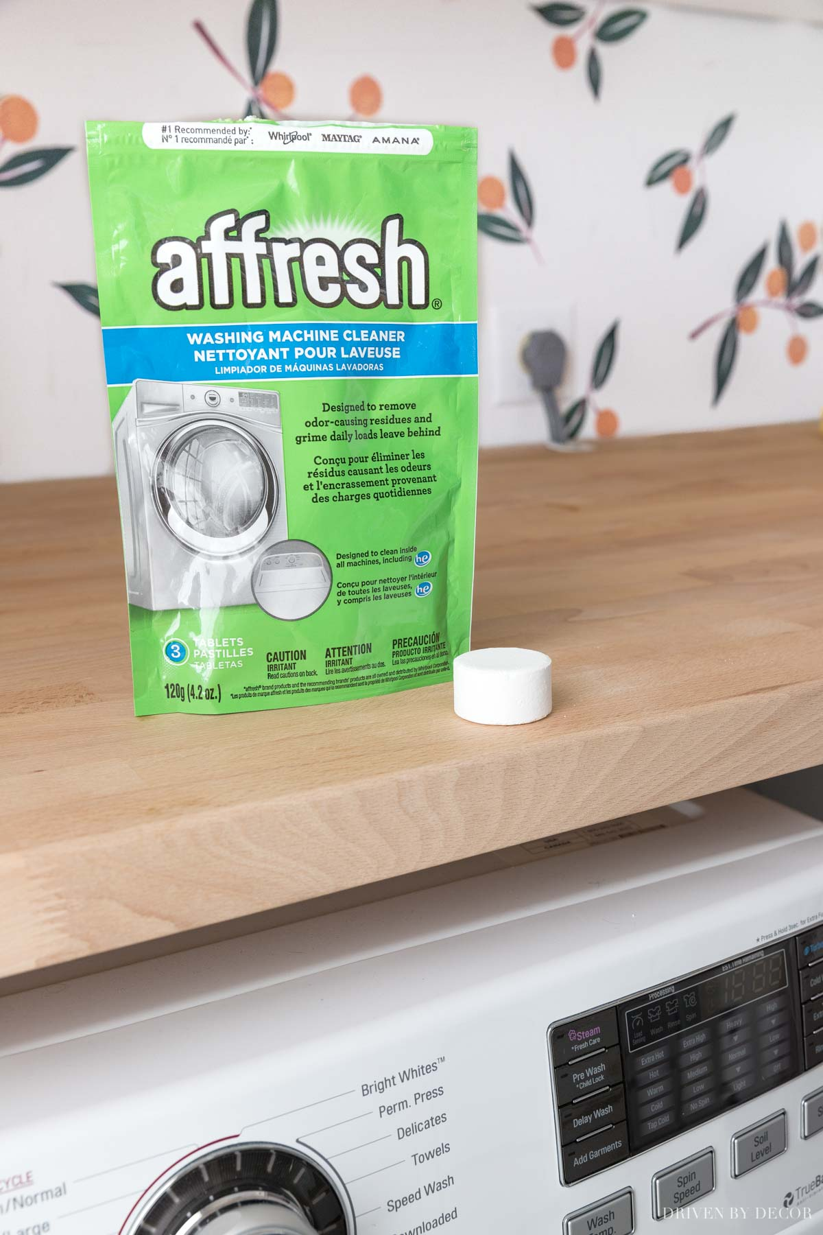 My favorite washing machine cleaning tablets!