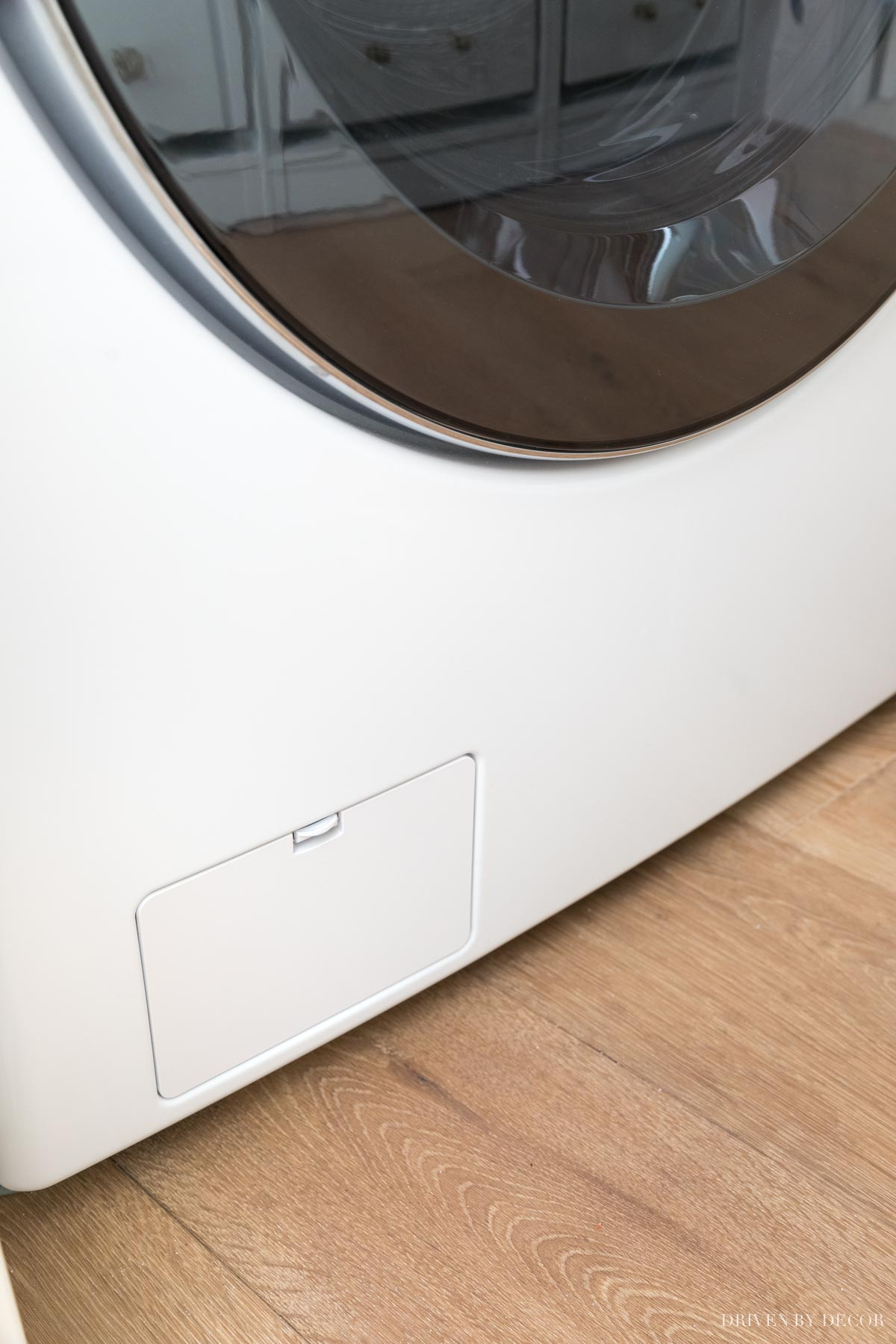 Access door on washing machine that has filter you need to clean!