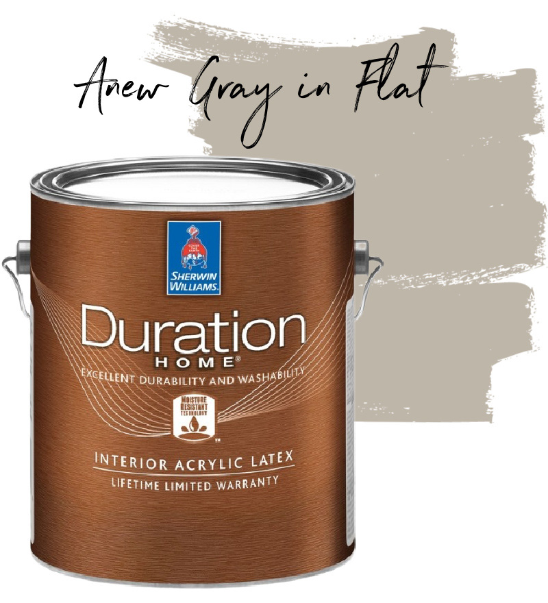 Sherwin Williams Anew Gray in Duration Home Flat