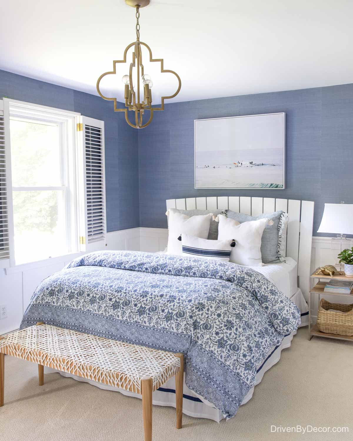 Home remodel: Our blue and white bedroom after remodeling!