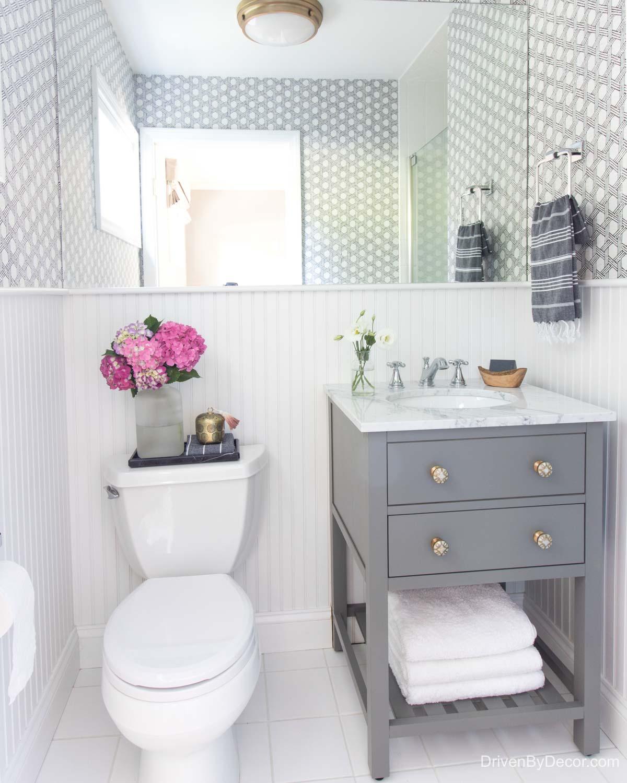 Home remodel: Guest bathroom after remodeling!