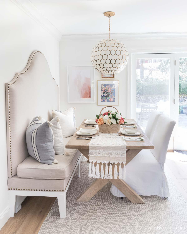 Home remodel: Kitchen eat-in after remodeling!