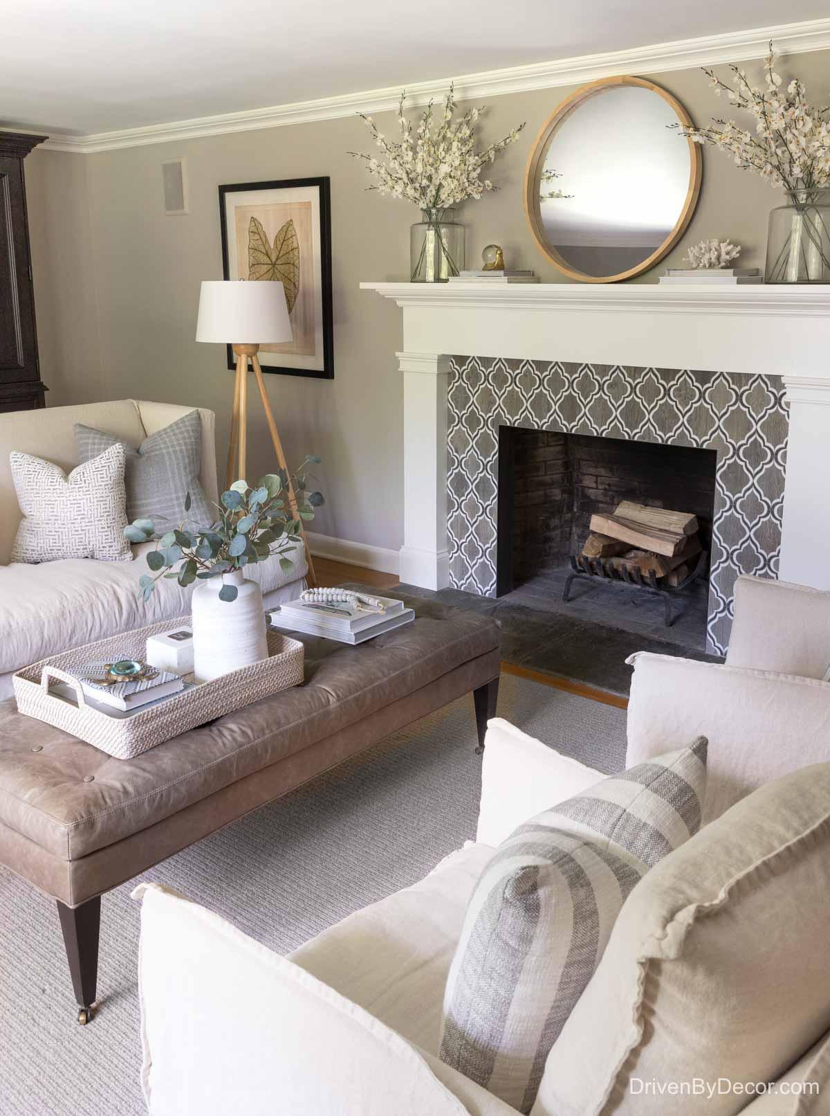 Home remodel: Our living room after remodeling!