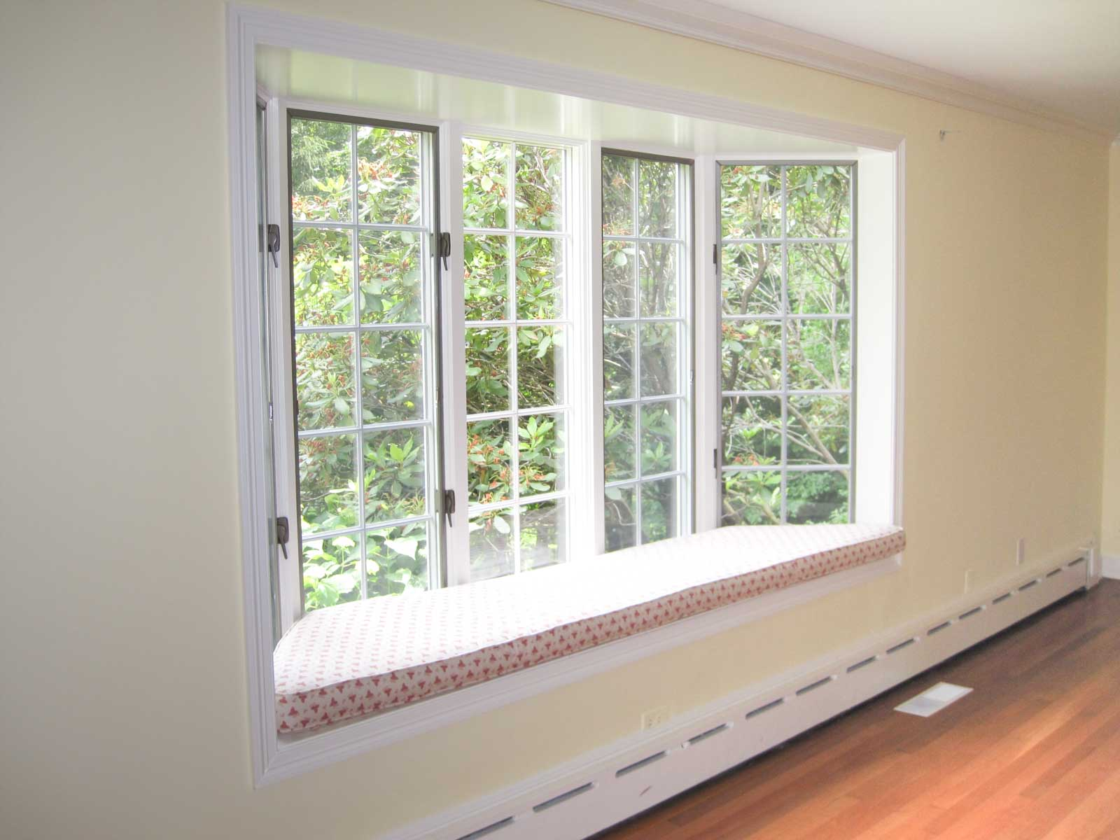 Our living room window seat before we remodeled!