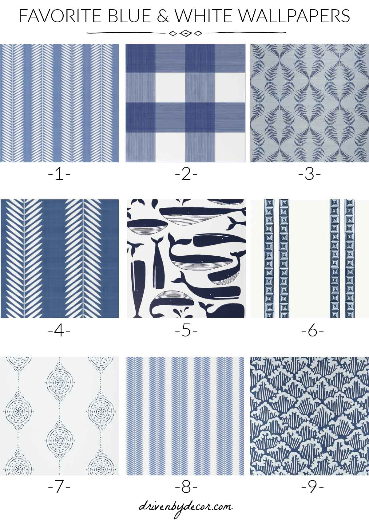 Blue and white wallpaper favorites!