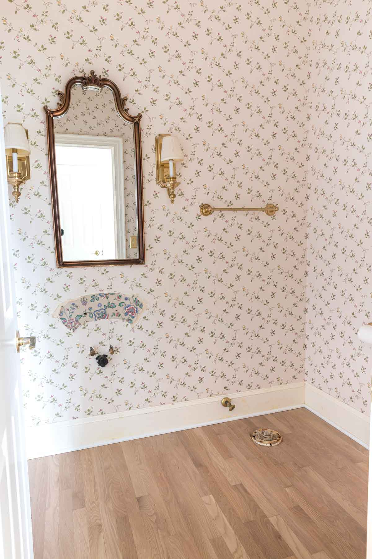 Our hall bathroom before remodeling it