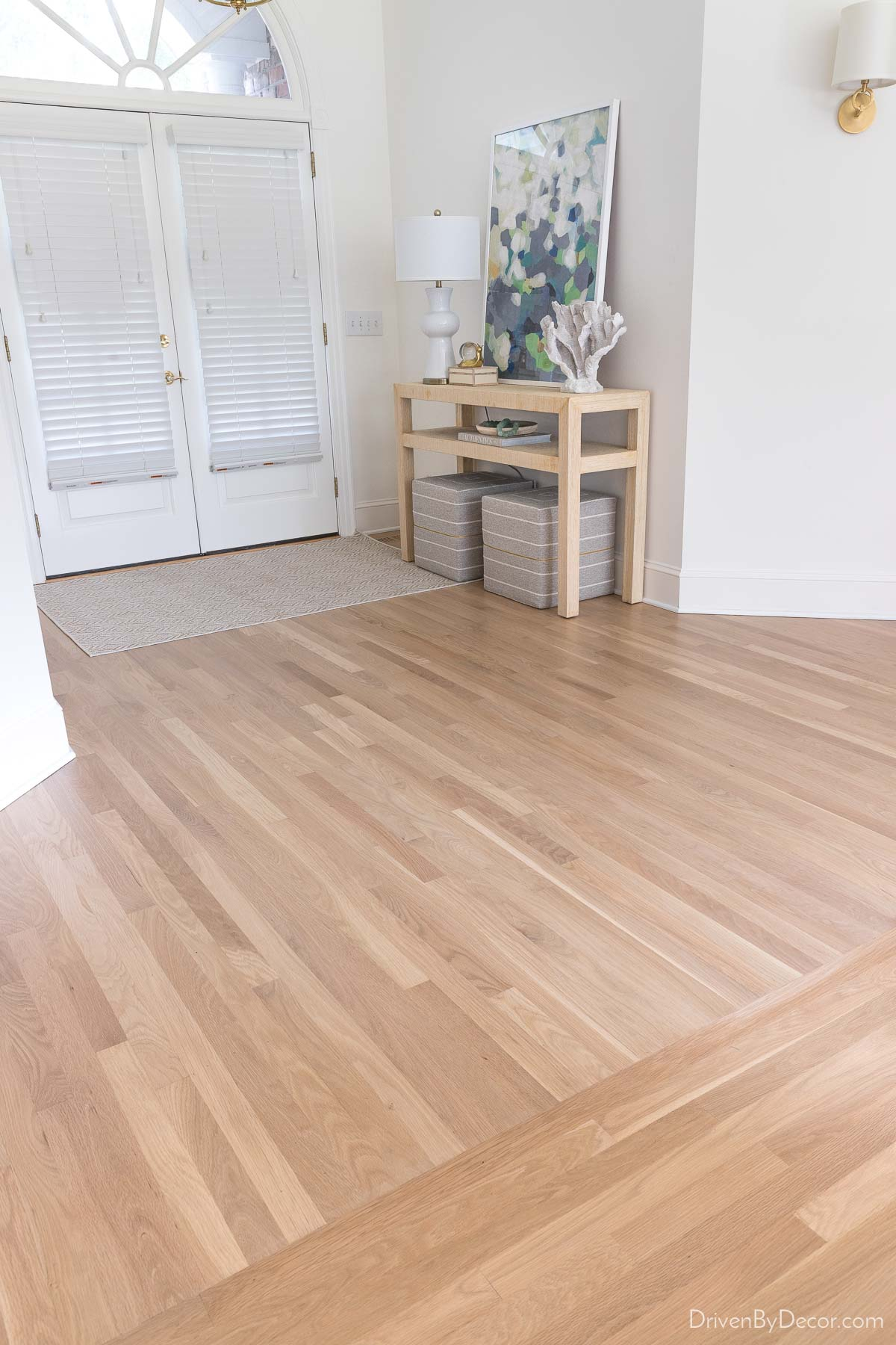 Our hardwood floors after refinishing!