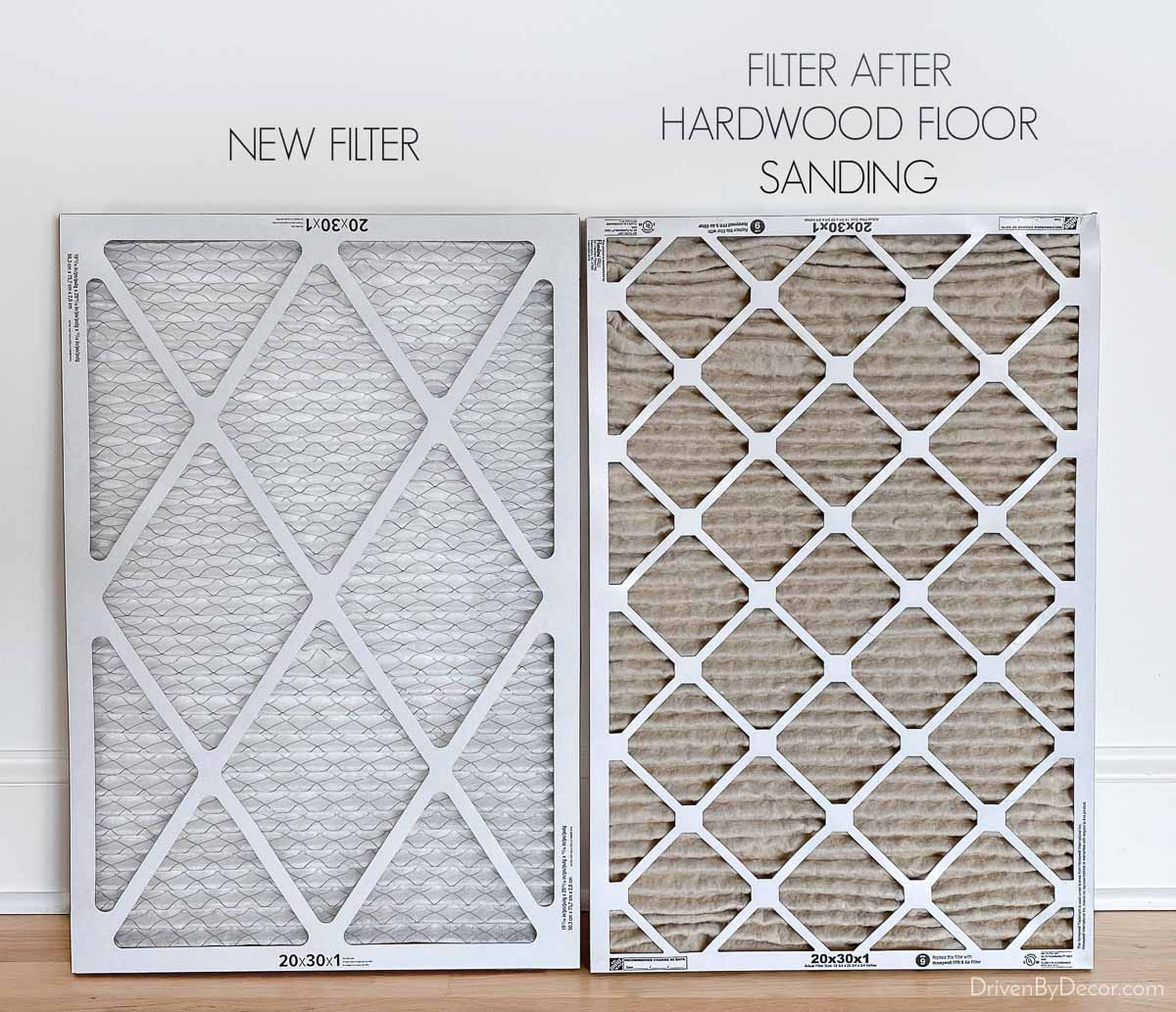 Change your air filters after hardwood floor refinishing!