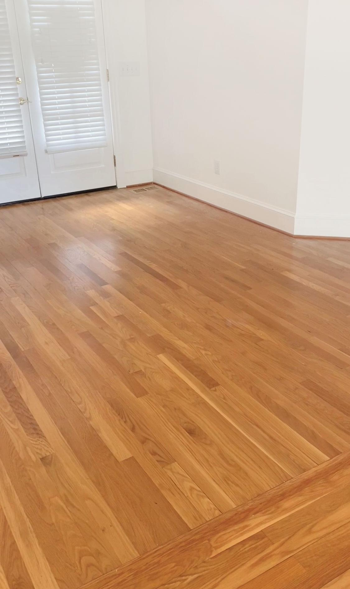 """Hardwood floor refinishing - our floors """"before"""""""