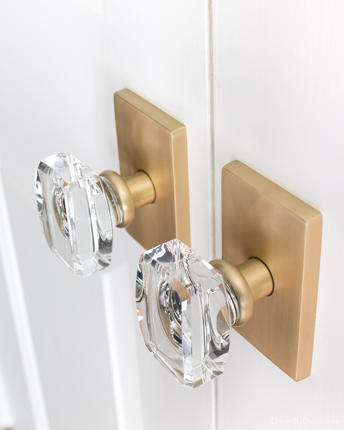 A favorite home remodeling idea is to replace dated knobs and freshen up your doors with a new coat of paint!