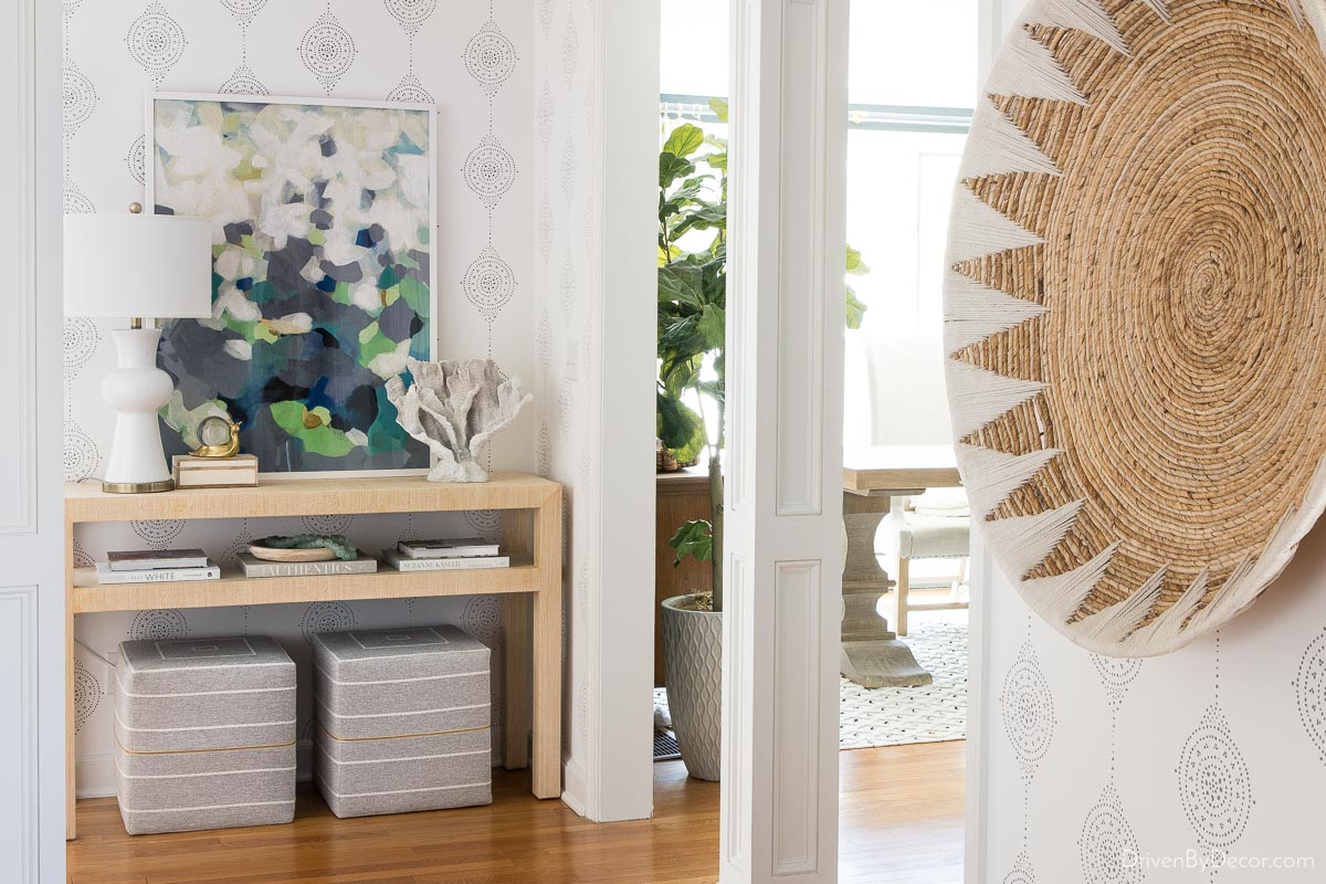 Wow with wallpaper! One of my most-loved home remodeling ideas!