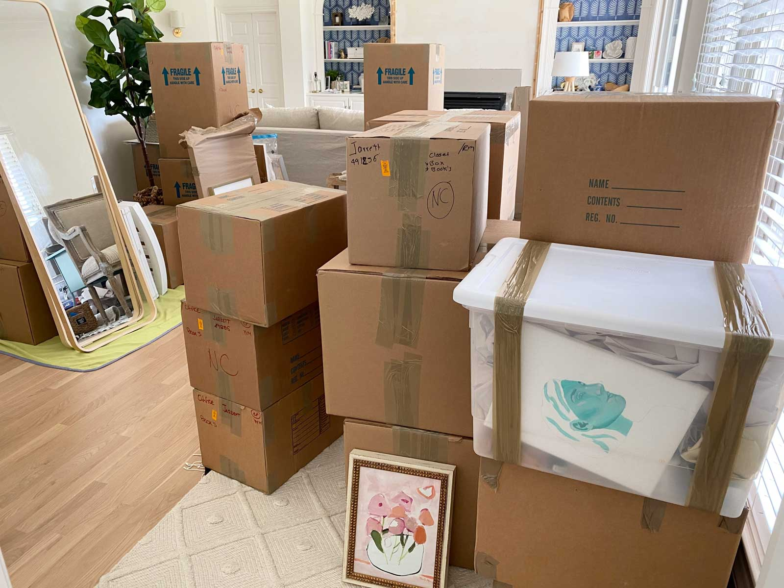 Lots of moving boxes to unpack!