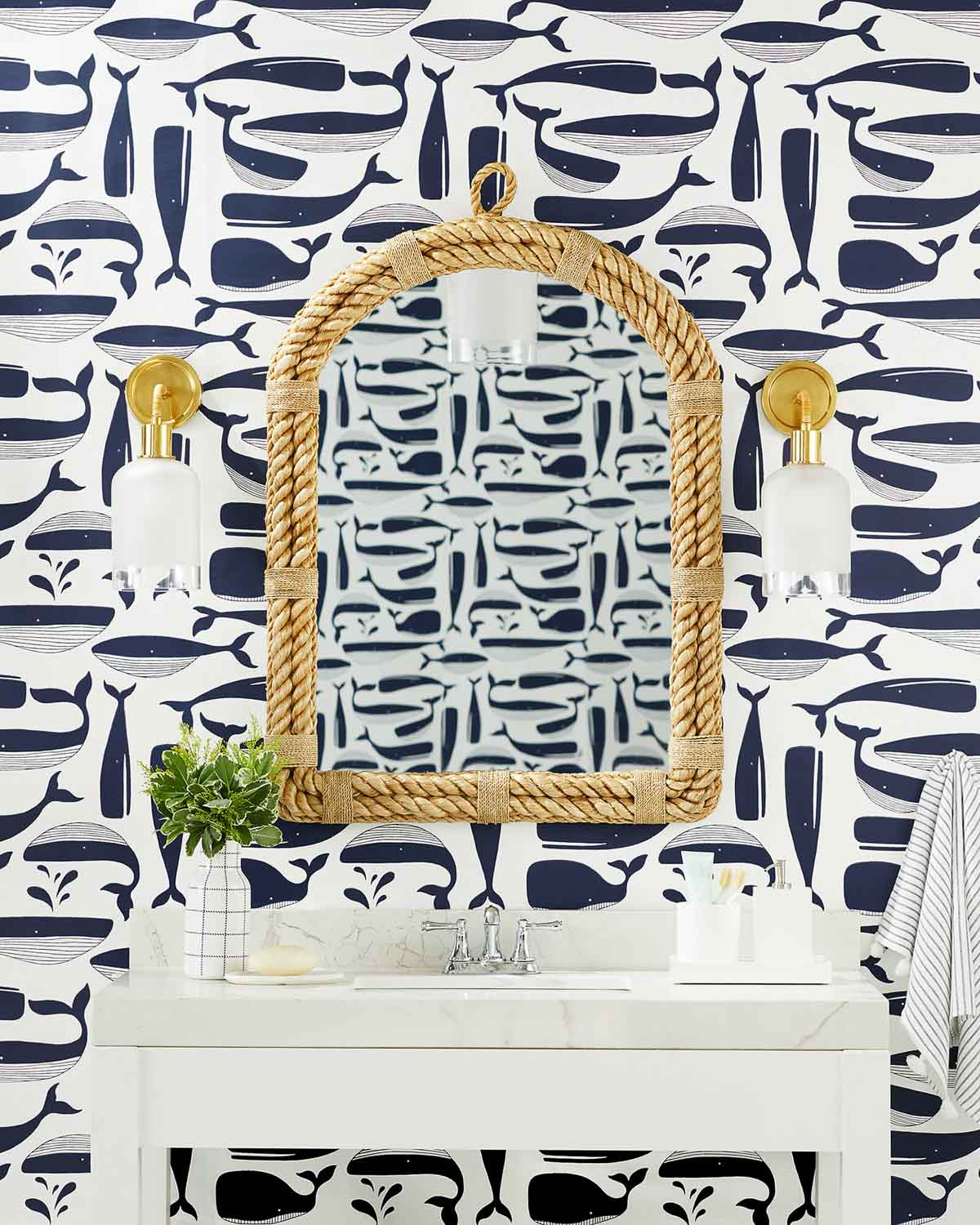 Powder room mirrors - great tips on choosing the right size!