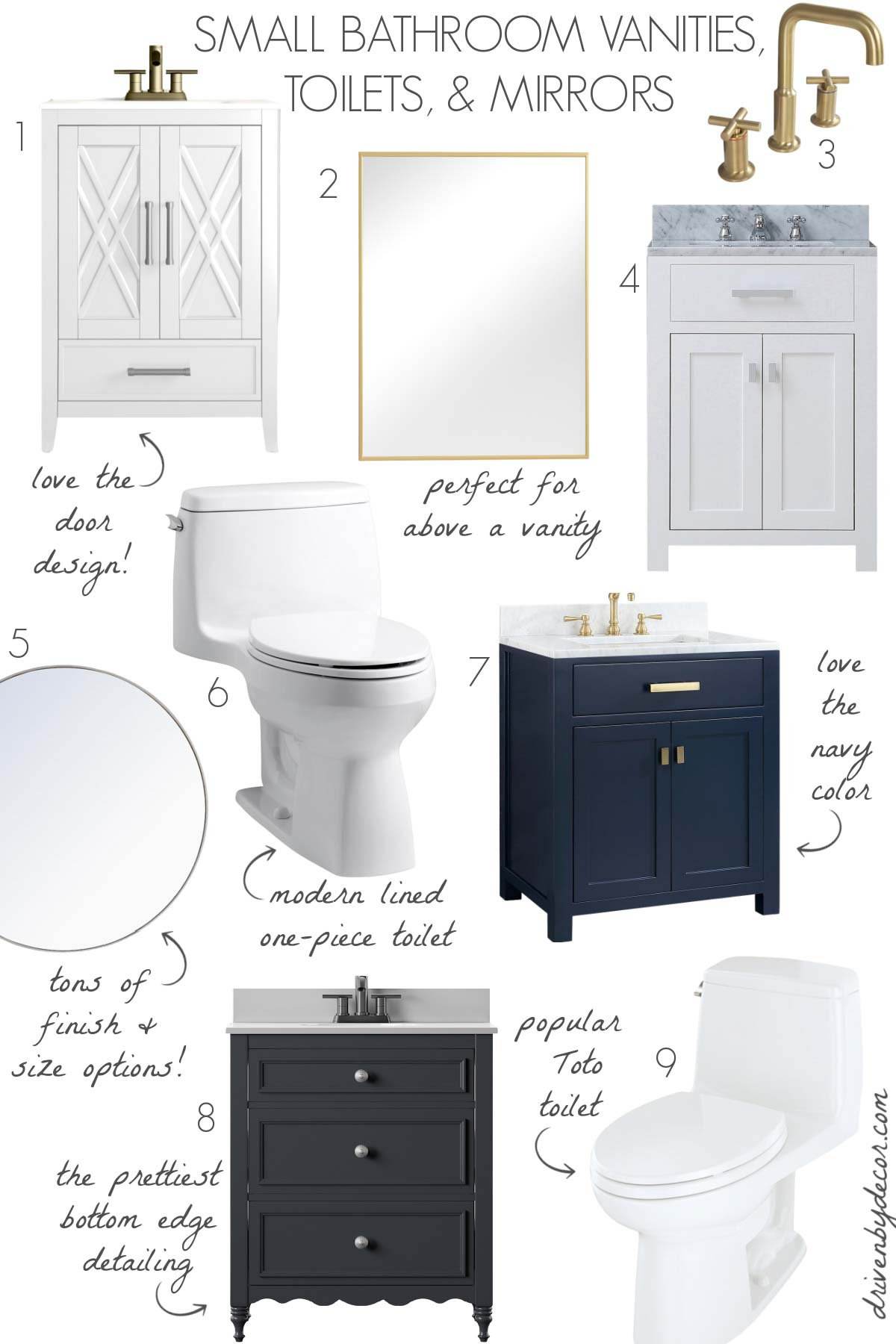 Vanities, mirrors, & toilets - the perfect bathroom upgrades!