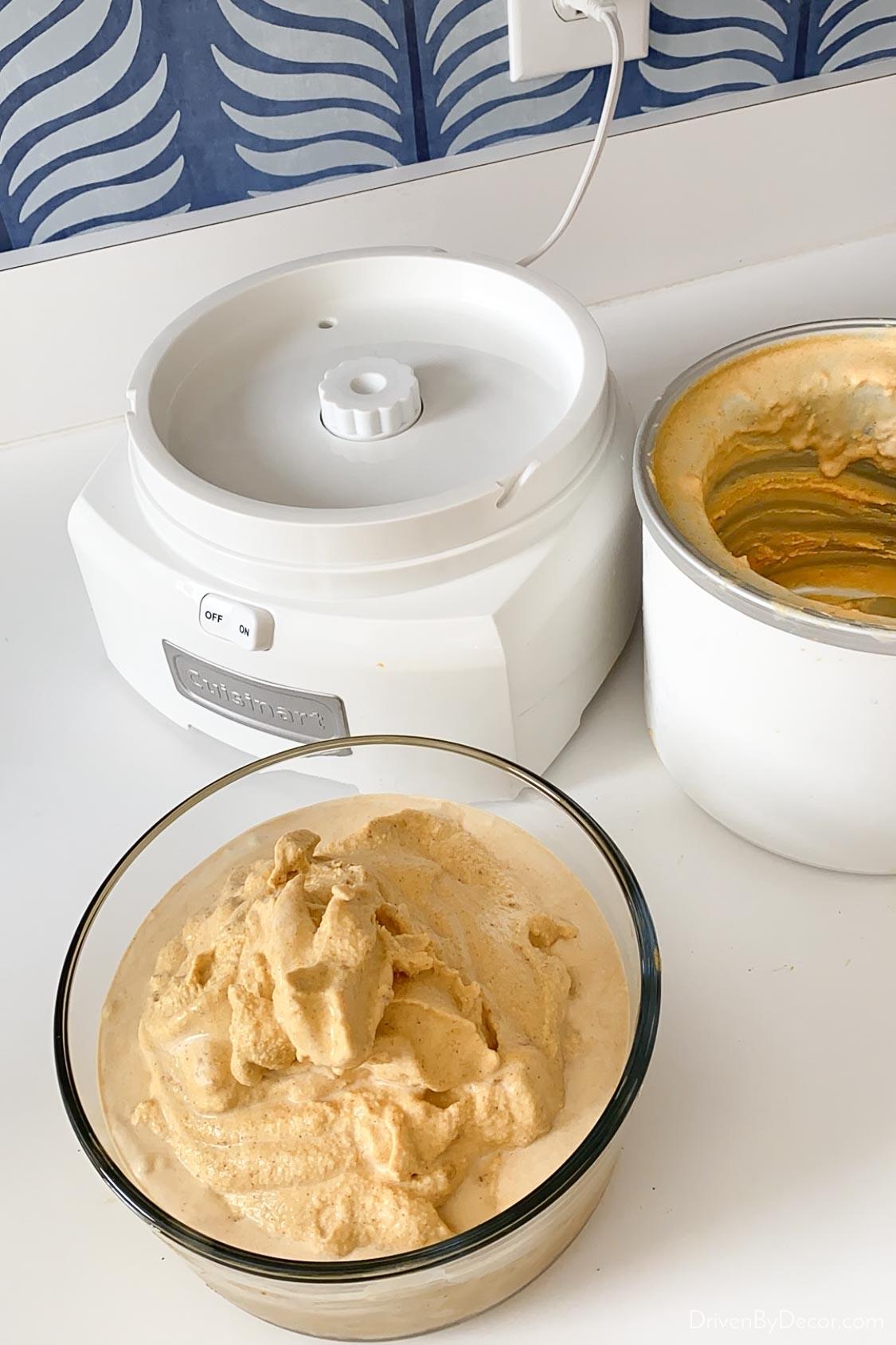Ice cream made from my Cuisinart ice cream maker!