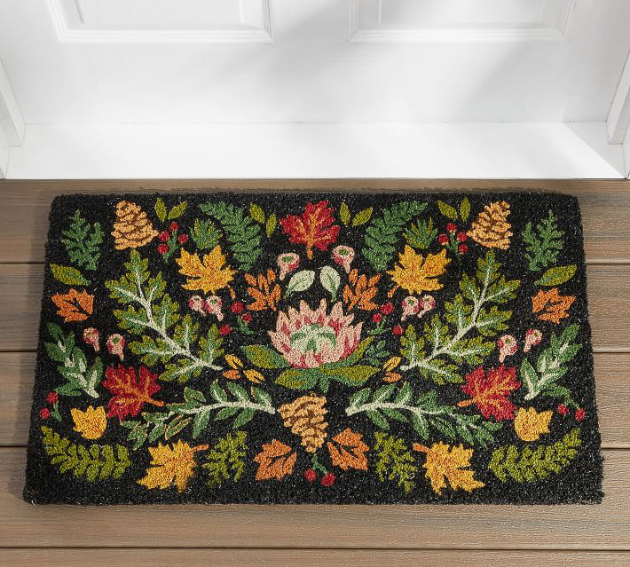 Love this colorful doormat that's perfect for fall!