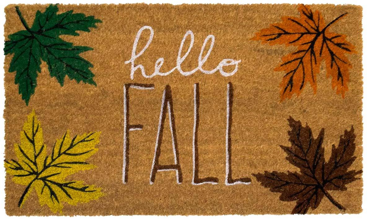 Colorful Hello Fall doormat