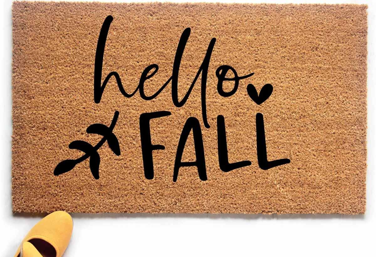 The cutest Hello Fall doormat