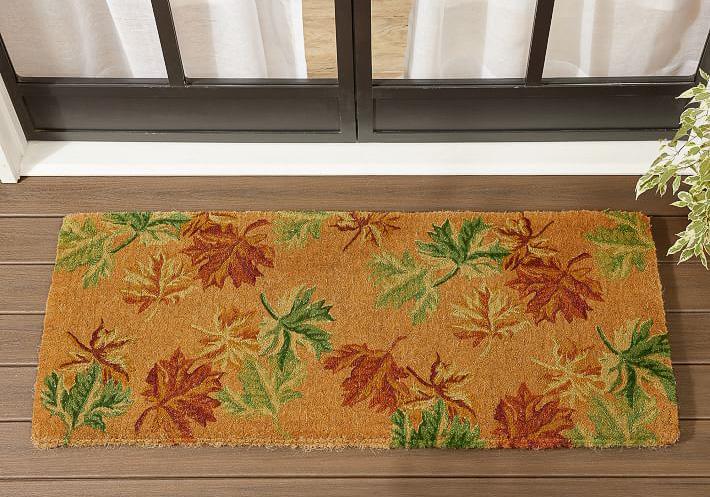 Long fall doormat - perfect for double front doors!