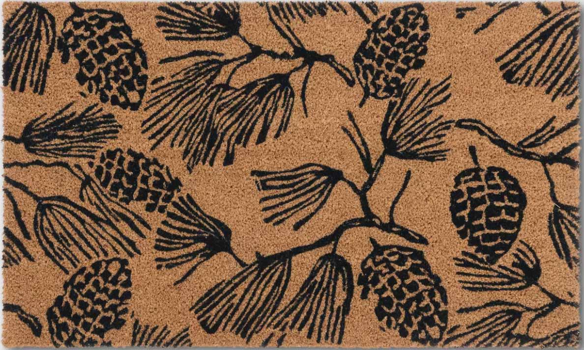 Beautiful fall pinecone doormat