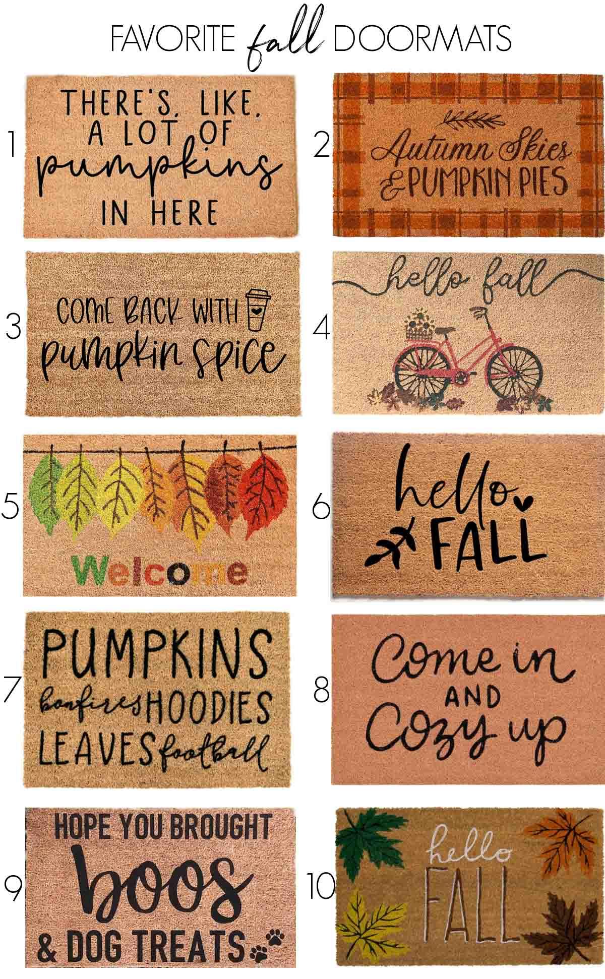 Fall doormat favorites!