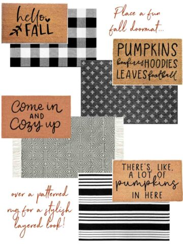 Favorite fall doormats including options for a layered look!