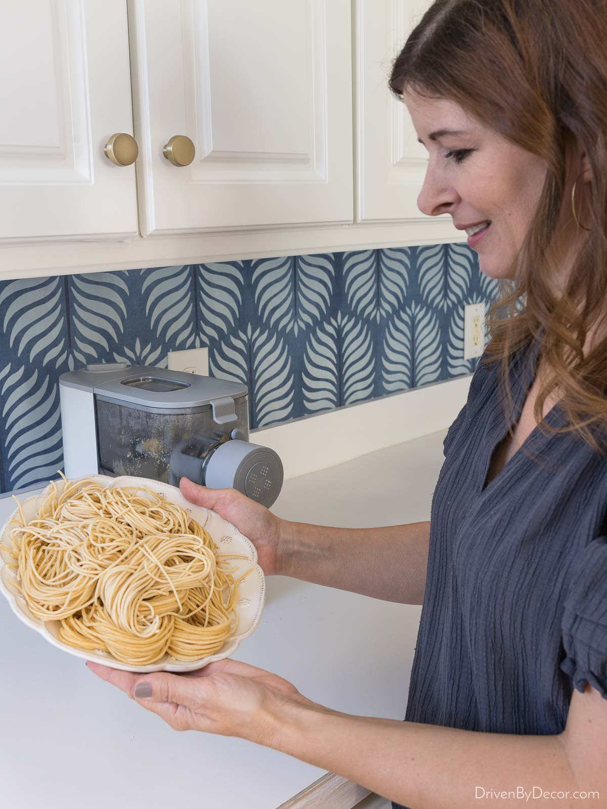 One batch of pasta from our pasta making machine - so simple to use!