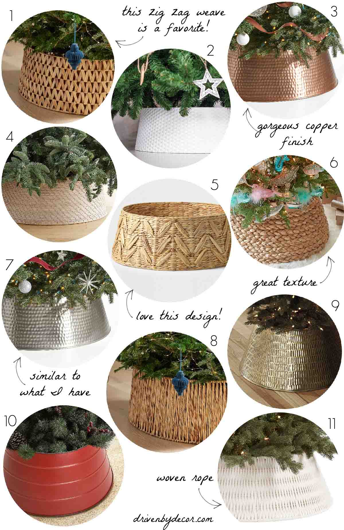 Christmas tree collars - love using these instead of tree skirts!